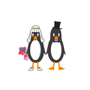 Pinguin Ehepartner Heirat