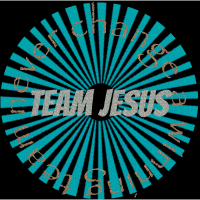 Team Jesus never change a winning team Geschenk
