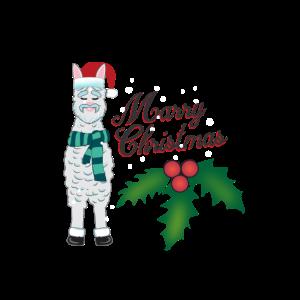 Frohe Weihnachten LAMA ALPAKA LUSTIG