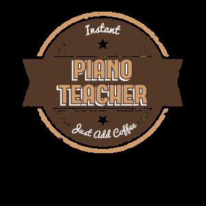 Dieser sofortige Klavierlehrer addieren gerade den lustigen Kaffee