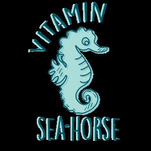 Vitamin SeaHorse Cute Ocean Beach Lover