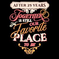 25. Hochzeitstag nach 25 Jahren zusammen
