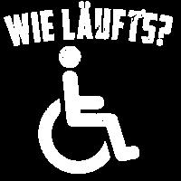 Wie läufts - Rollstuhlfahrer schwarzer Humor