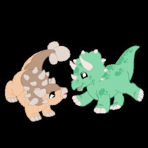 Spielende Dinos