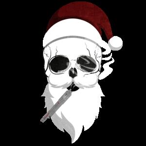 Totenkopf Weihnachtsmann Nikolaus Geschenk Idee