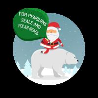 Nikolaus Weihnachtsmann Nordpol Südpol Geschenk