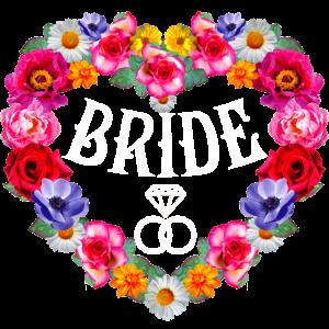 131 Bride diamond Rings Flower Wreath Heart Braut