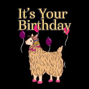 Alpaka Lama Geburtstag Geburtstagsmädchen LAMA