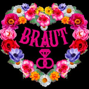 132 Braut Diamantringe Blumenkranz Herz