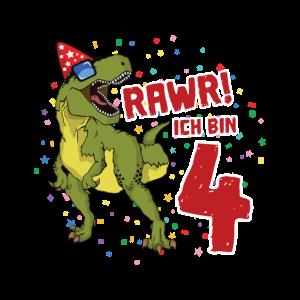 4. Geburtstag Dinosaurier Geburtstags Geschenk