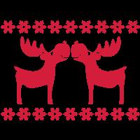 Elch Rentier Hirsch Weihnachten Rudolf