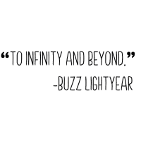 """To infinity and beyond"" buzz Geschenk Idee"
