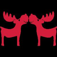 Elch Rentier Hirsch Weihnachten Rudolf nase