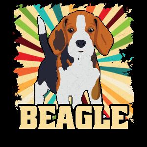 Beagle Hund Retro Jadghund Geschenk
