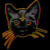 Satan Cat Teufelskatze Katze Kätzchen Dämon