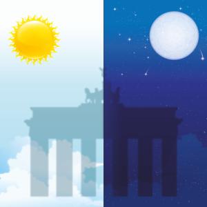 Berlin - bei Tag und Nacht