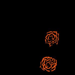 Rosen Tattoo Deko I eigene Farbwahl