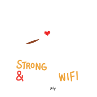Strong Coffee and Wifi Liebe Entspannung Geschenk