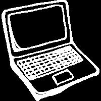 Laptop Zeichnung Entrepreneur Onlinegeschäft