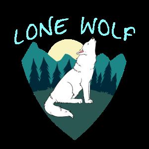Einsamer Wolf Natur Wildnis Einzelgänger Geschenk