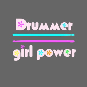 Drummer girlpower rose - idee cadeau batteur