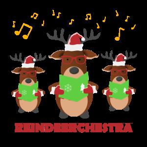 Singendes Rentier Orchester Geschenk Idee