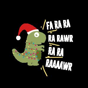 Weihnachten Dinosaurier T-Rex X-Mas Dino Geschenk