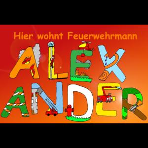 Hier wohnt Feuerwehrmann Alexander Kinderzimmer