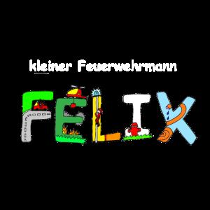 Felix tolles Feuerwehrmotiv individuell mit Namen