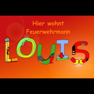 Louis Kinderzimmer - Poster oder Türschild