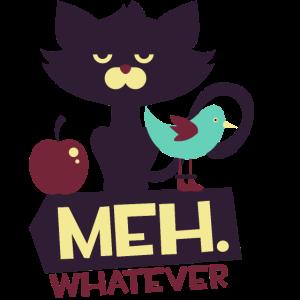 Katze Shirts Geschenk Katzenliebhaber Meh Miau