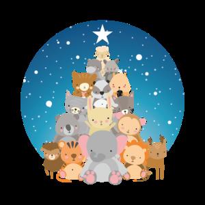Animal Tree Tiere Baum Weihnachtspyramide Geschenk