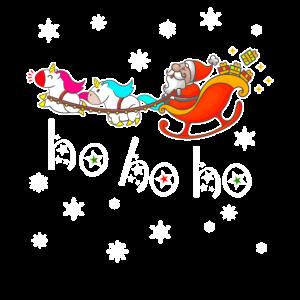 ho ho ho Einhorn Santa Weihnachtsmann Weihnachten