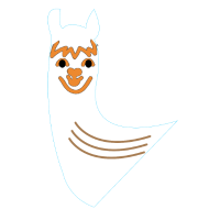 Alpaka Kopf mit Hals