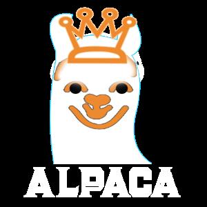 Alpaka mit Krone