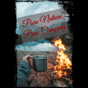 Handyhuelle Camping Camper Fire Geschenk Travel