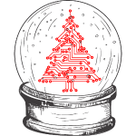 Crystal snow globe | Geeky christmas tree