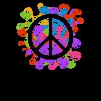 Peace Zeichen mit Farben