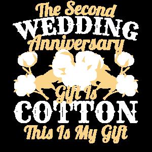 Zweiter Hochzeitstag Baumwolle Cotton Verheiratet