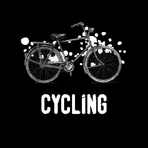 Vintage Bicycle Tuschezeichnung im Retro-Stil