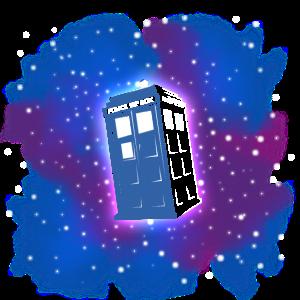 TARDIS (für schwarzen Hintergrund)