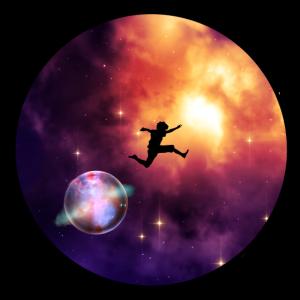 Galaxie Sprung in eine neue Dimension