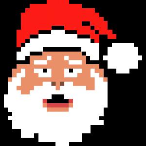 santa claus - pixel - weihnachtsmann