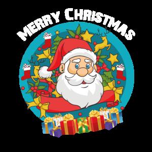 Merry Christmas wünscht der Weihnachtsmann