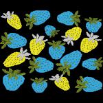 blaue erdbeeren,blue strawberries