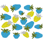 Fresas,,blue strawberries