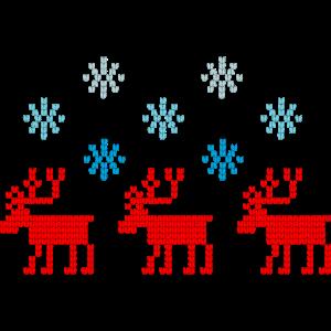 Rentiere Schneeflocken Strickmuster Xmas Sweater