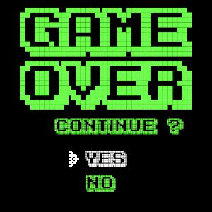 Game Over 8bit Gamer Nerd Zocker Geek Geschenkidee