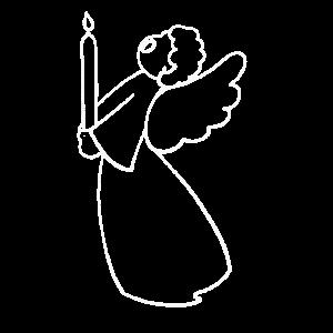 Weihnachtsengel, Engel mit Kerze, Silhouette