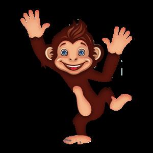 Lustiger Affe der tanzt und springt Geschenkidee